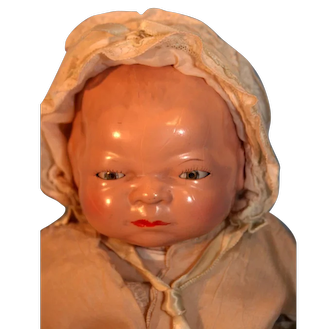 Bye-lo baby Doll Grace Storey Putnam  Composition Head and Hands Frog Style Cloth Body Circa 1924