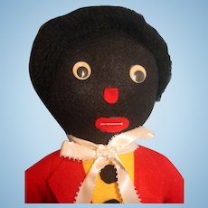"""Golliwog 19"""" Tall British Character from the 1895 book 'The Adventures of Two Dutch Dolls and a Golliwogg'"""