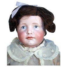"""Kammer and Reinhardt 19"""" tall antique bisque doll mold 114 Gretchen"""