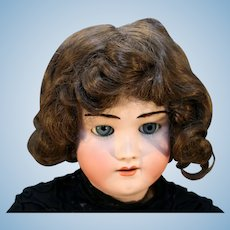 """28"""" Tall Bisque Doll Made in Germany by Heinrich Handwerck Head Made by Simon and Halbig Marked 5 ½."""