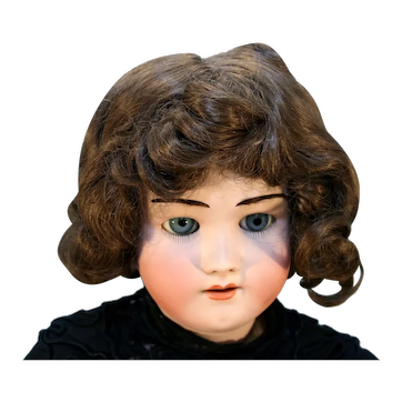 "28"" Tall Bisque Doll Made in Germany by Heinrich Handwerck Head Made by Simon and Halbig Marked 5 ½."