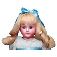 "Antique bisque head German doll 15"" by Cuno, Ottto Dressel"