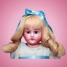 """Antique bisque head German doll 15"""" by Cuno, Ottto Dressel"""