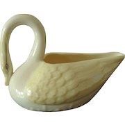 Vintage Belleek Porcelain Swan