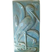 Gonder Pottery Crane Pillow Vase