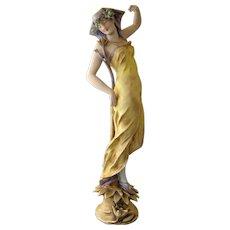 Art Nouveau Amphora Porcelain Figurine circa 1892-1905