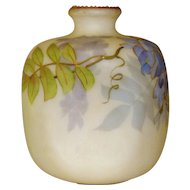 Smith Bros. Mt. Washington Pinch Vase with Wisteria Decoration