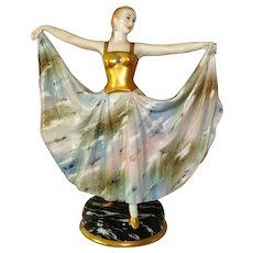 Irish Dresden Female Figurine