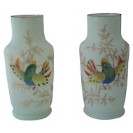 Matched Pair of Bristol Glass Vases