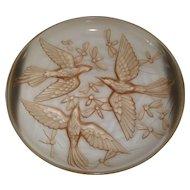 Verlys Art Glass Console Bowl
