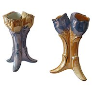 Pair of Lusterware Tulip Vases