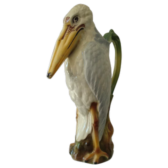 Rare 1870's Majolica Absinthe Pitcher