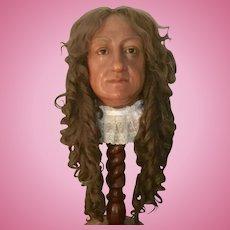Old English Bust Mannequin Wax Head Madame tussauds Amsterdam