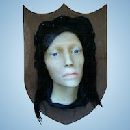 **19th Century French Wax Lady Face**