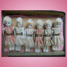 SALE!! Early German Porcelain Doll House Dolls