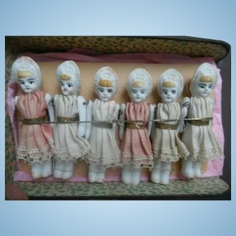 SALE!! Early German Porcelain Doll House Dolls