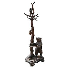 90 Inch Swiss Black Forest Hall Tree Umbrella Stand