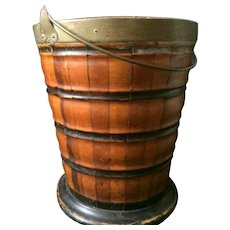 18th Century Dutch Peat Bucket Mahogany