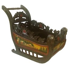 Stunning Antique Doll Sled