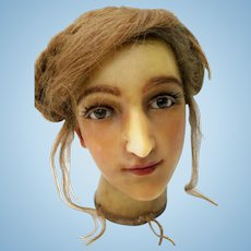 ☆Sale☆French Buste Lady Wax Doll Head 19th Century