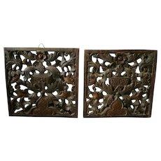 18th Century Oak Wooden Plates