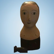 Marotte Head Antique Paper Mache