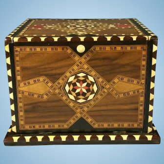 1940/1950 Spanish Cigar Box Inlaid Wood