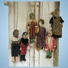 Rare 19th Century Theater Dolls Puppets