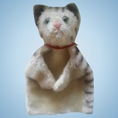 Antique Steiff Cat Hand Doll Puppet ca1910
