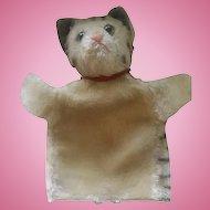 Antique Steiff Cat Hand Doll Puppet ca 1910