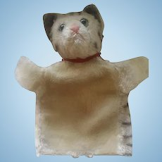 Antique Steiff Cat Hand Doll Puppet ca 1910