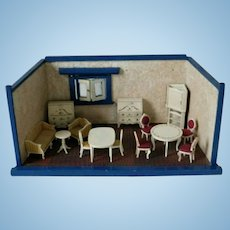 Old German Dollhouse Room