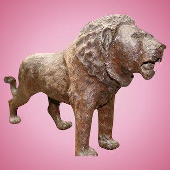Rare Antique Black Forest Lion