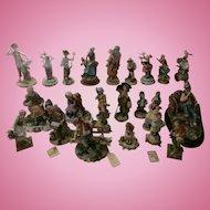CAPODIMONTE 24 Pieces Porcelain Italy
