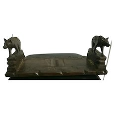 Extreme Rare Black Forest Book Stand 19th Century