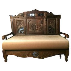 *Couple Benches*This Is Amazing Brittany Couple French Couch Bench
