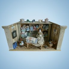 Antique Dollhouse Doll Store