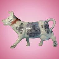 Old Dutch Cow Delft Blue Creamer