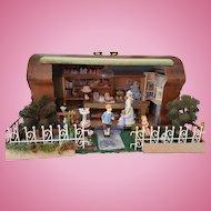 Dollhouse sewing box