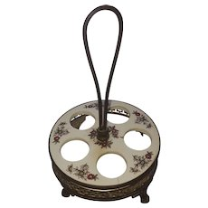 Antique Dutch Egg Cup Holder