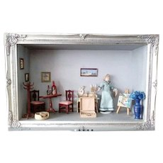 Old Diorama Dollhouse Room