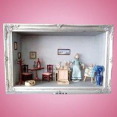 Old Diorama Dollhouse Room