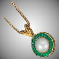 You'll absolutely flip. Twice. Reversible 14k/Emerald, Diamond, Pearl Pendant