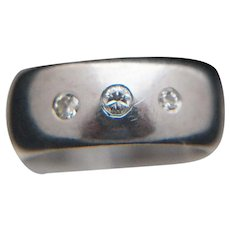 Three-Diamond 14k Gold Ring