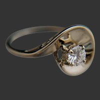 ½-Carat Diamond 14k White Gold Ring