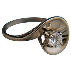 ½-Carat Diamond 14k White Gold Ring
