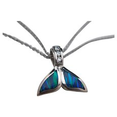 Opal Whale Tail 14K Pendant with Necklace