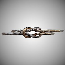 14k Cable Knot Pin