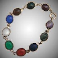 14k Multi-stone bracelet