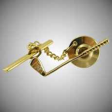 14k Gold Golf Club Tie Tack
